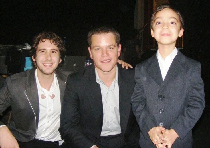 Josh Groban and Ethan Bortnick Surprise Matt Damon in an Auction to help.... way tooo cool!!!!!