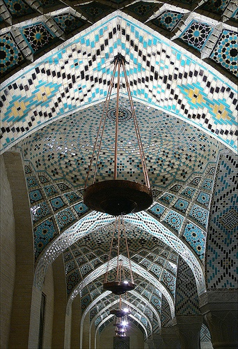 This mosque is one of the most elegant mosques in Iran. It extensively uses colored glass in its facade, and displays other traditional elements in its design. The stunning stained glass and exquisitely carved pillars of the winter prayer hall that are most eye-catching. The mosque was built around 1872-1884 by order of Nasirol-Mulk, the aristocrat of Shiraz-Shiraz,Iran