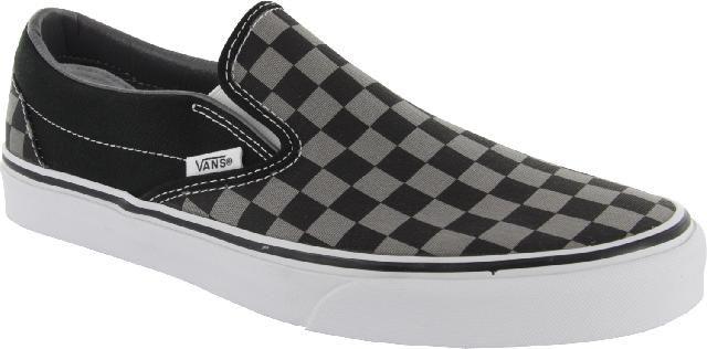 Výsledek obrázku pro vans slip on checkerboard black pewter