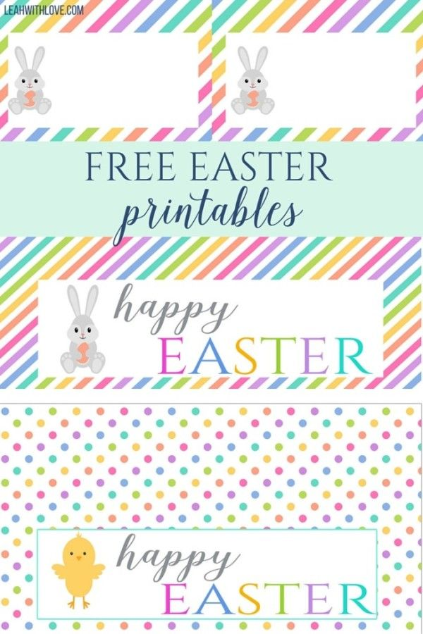 Free Easter Printables- Bag Toppers and Food Tents/ Place Cards