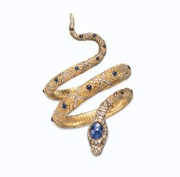 Ellen Barkin Jewelry Auction A SAPPHIRE AND DIAMOND ...