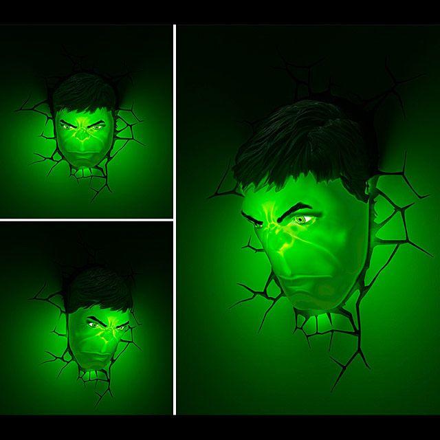 Hulk Mask 3d Decorative Wall Lamp Wall Lamp Wall Decor Hulk Mask