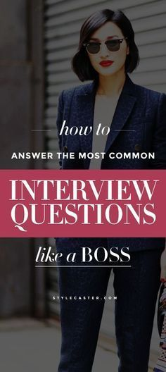 Hey #girlboss, here's how to answer the 5 most common job interview questions and land that dream job!