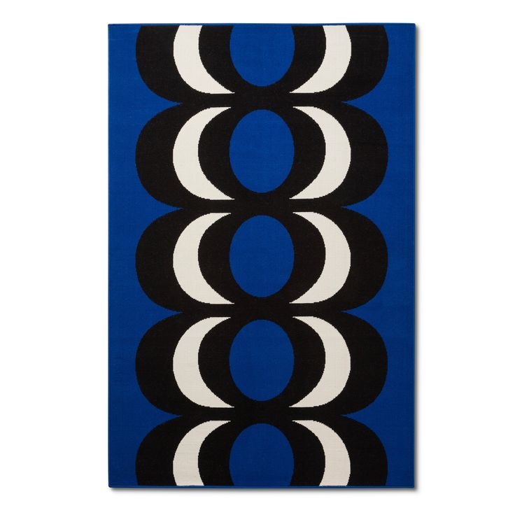 Outdoor Rug 5'x7' - Kaivo Print - Blue - Marimekko for Target