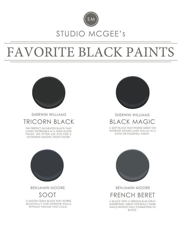Ask Studio McGee: Our Favorite Black Paints   Studio Blog - STUDIO MCGEE   Bloglovin'
