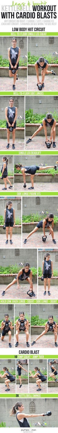 Butt & Legs Kettlebell Workout with Cardio - awesome lower body workout (and great for strengthening your back!) #GorillaGlass #sponsored lower back pain exercises https://www.kettlebellmaniac.com/kettlebell-exercises/