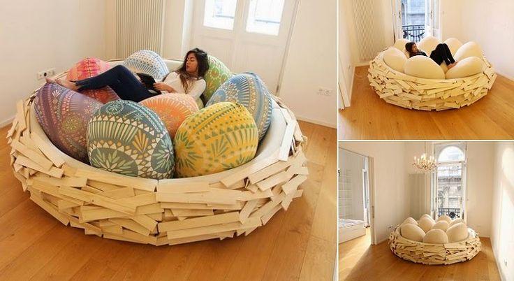 Sleep at The Giant Bird Nest.  Please Follow: +Creative Ideas
