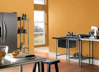 Paredes de la cocina en naranja : PintoMiCasa.com