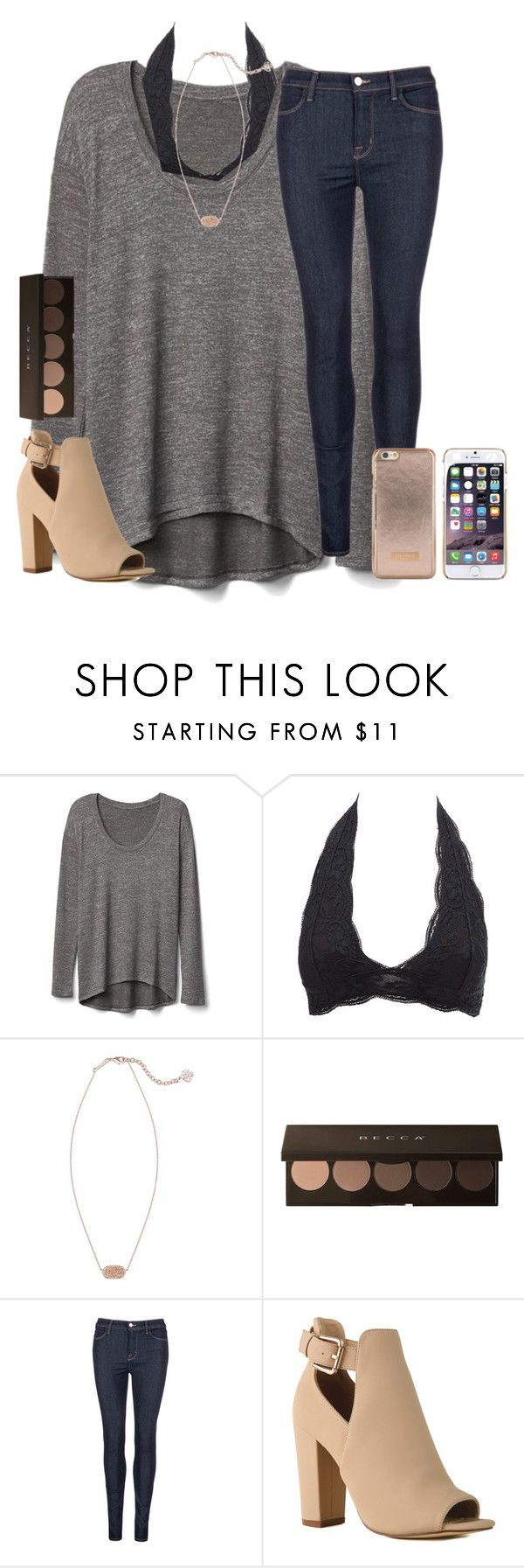 """""""12/13/16"""" by emmagracejoness ❤ liked on Polyvore featuring Gap, Charlotte Russe, Kendra Scott, J Brand and Ted Baker"""