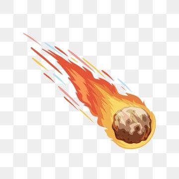 Fireball Planet Planet Comet Halleys Comet Png And Vector Halley S Comet Planet Vector Cartoon Styles