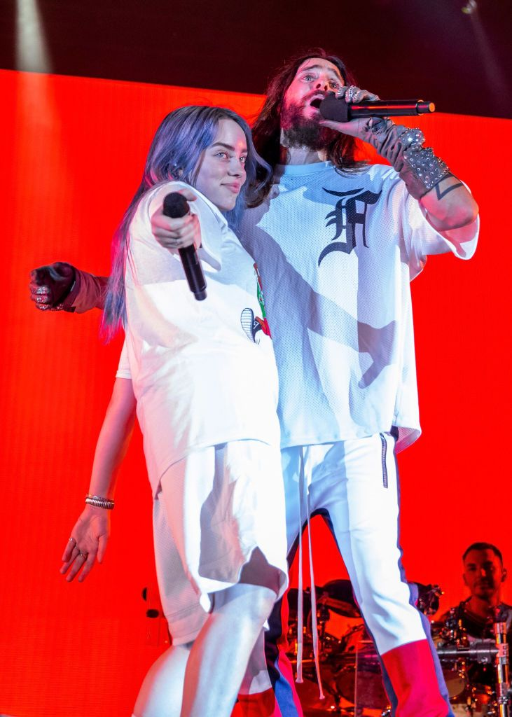 Billie Eilish performs with Jared Leto of 30 Seconds To Mars during... | Billie, Billie eilish, Jared leto