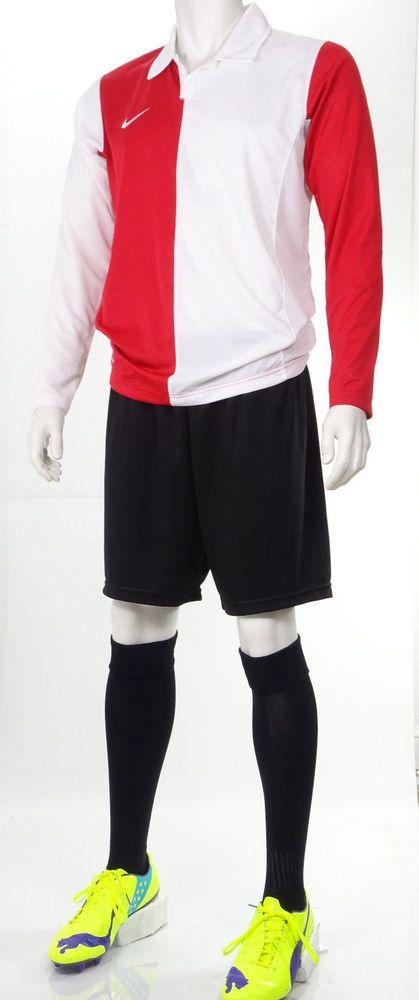 15 x Nike Mens Football Team Kits 'AS Monaco' style Red & White (S to 2XL)