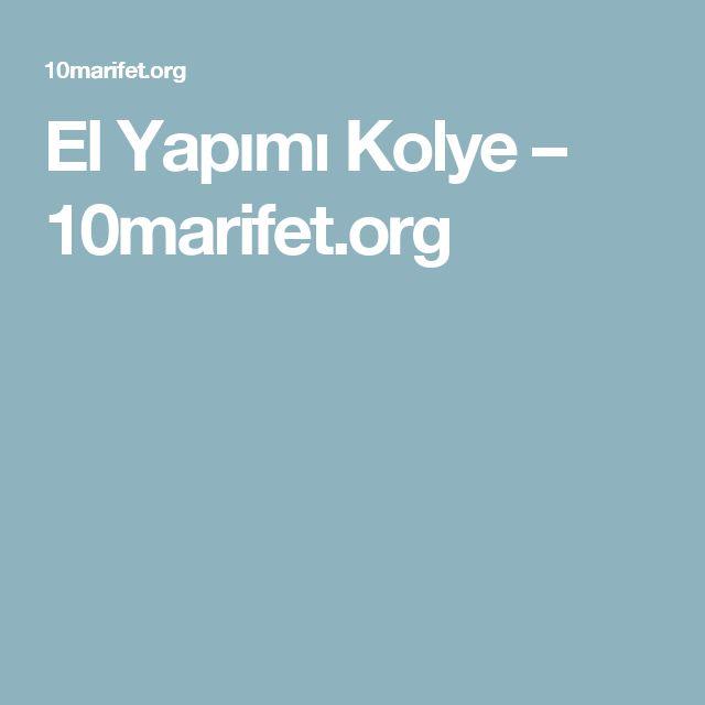 El Yapımı Kolye – 10marifet.org