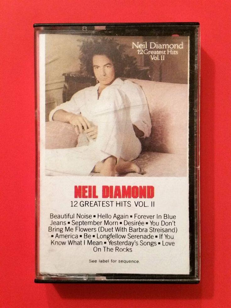 Neil Diamond 12 Greatest Hits Vol. ll Cassette Tape 1982 Country Music