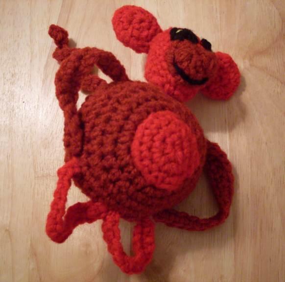 """Funmigurumi Monkeyroo Baby Rattle—3: """"Jiggles"""""""