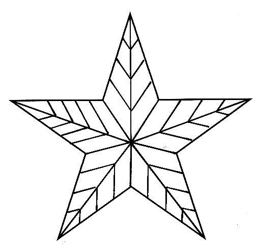 Днем, картинка рождественская звезда для раскраски