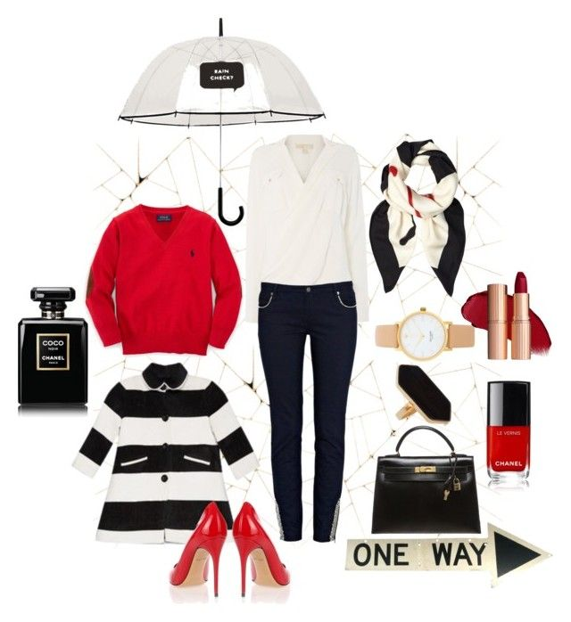 """one way"" by slavulienka on Polyvore featuring Kate Spade, Michael Kors, Ralph Lauren, sass & bide, Gucci, Alice + Olivia, Jaeger, Hermès and Salvatore Ferragamo"