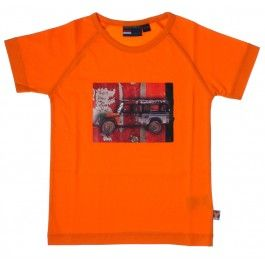 Dutch Heroes oranje t-shirt 'Jeep'. Ontwerper Tata - zomercollectie 2014.