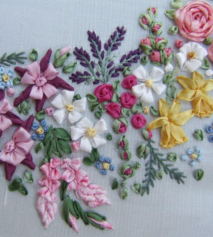 Silk ribbon embroidery kits for beginners makaroka