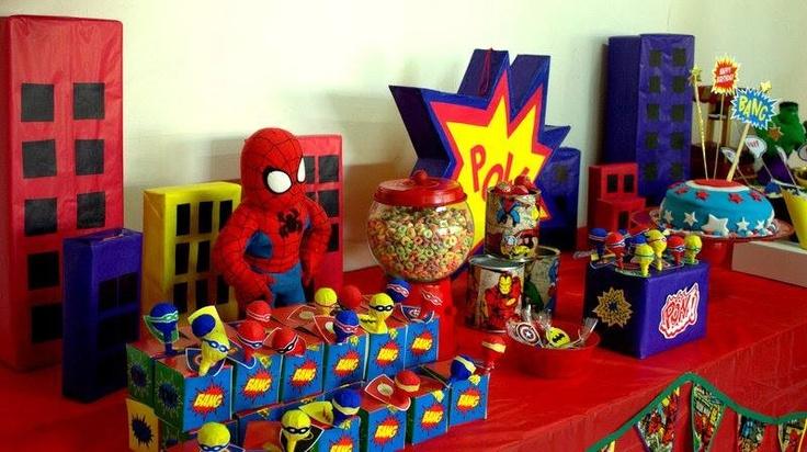 Cumpleaños Superhéroes por Tienda Doilies