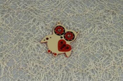 Valentínska koženková sovička