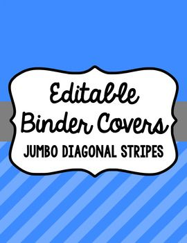 Keep yourself organized and fancy with these binder covers. There are 15 different colors (listed below) with three different frames (designs) for each color included. Spines are also included (1 inch, 1.5 inch, 2 inch, and 3 inch) for each color. Included are instructions for