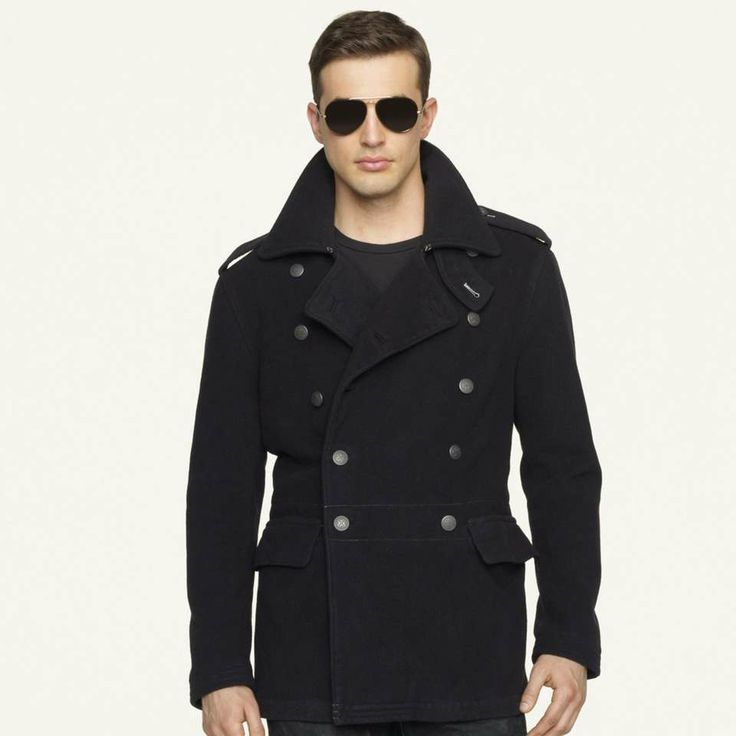 Love the Ralph Lauren Double-Breasted Officer's Coat on Wantering | $540 | sale price | Boxing Week for Him | mens coat | black | menswear | mens style | mens fashion | wantering http://www.wantering.com/mens-clothing-item/double-breasted-officers-coat/afqMi/