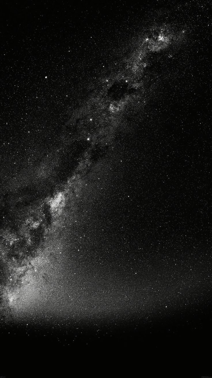 iPhone Galaxy Stars Black and White - Wallpaper
