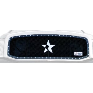 RBP 251459 RX Series Black Studded Frame Main Grille, (1 Piece). Rolling Big Power's RX Series Black Studded Frame Main Grille for 2006-2008 Dodge Ram 1500/2500/3500. It requires cutting and is a custom truck grille crafted by RBP that's guaranteed to set your rig apart from the mundane masses and not for the faint of heart. RBP grilles are wrought from premium stock stainless steel, triple chrome plating and burly black powder coat. These top notch materials, attention to detail and made in…