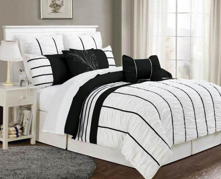 cool Bedding Sets In Black And White ,   #Bedding Sets In Black And White picture from http://homesdesign.us/?p=204