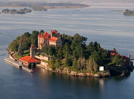 Singer Castle, Hammond, NY. Located on Dark Island in the lower-eastern Thousand Islands region along the St Lawrence Seaway.