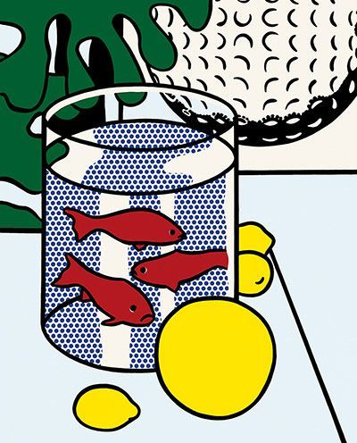 Still Life With Goldfish, 1972 Roy Lichtenstein