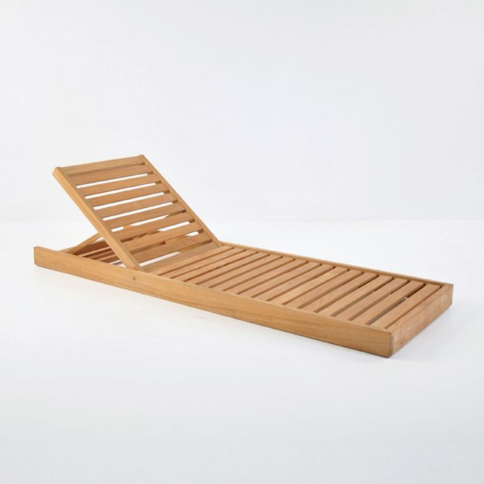 Sleek And Modern The Amalfi Teak Sun Lounger Has A Low Profile And Lays At Ground Level This