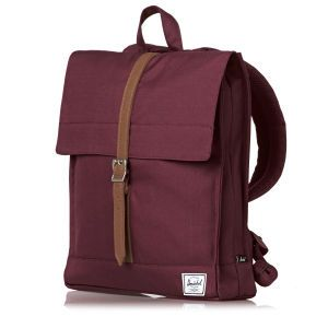 Herschel City Backpack - Windsor Wine/Tan | Free UK Delivery*