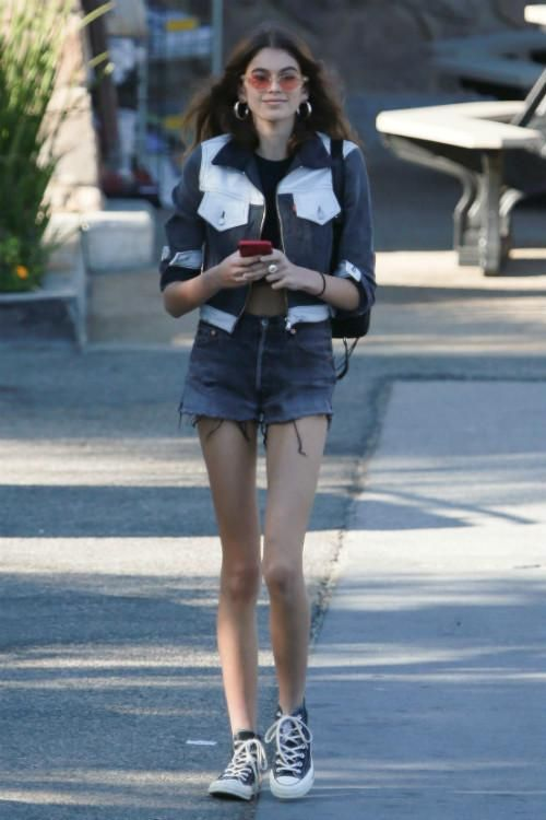 faf99032b2a Kaia Gerber wearing Prada Fabric Belt Bag