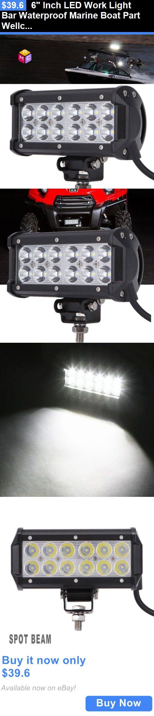 17 best images about boat mercury marine boat boat parts 6 inch led work light bar waterproof marine boat part wellcraft searay bayliner