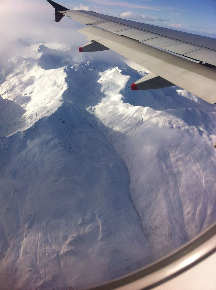 Ski Trip- flying over Queenstown