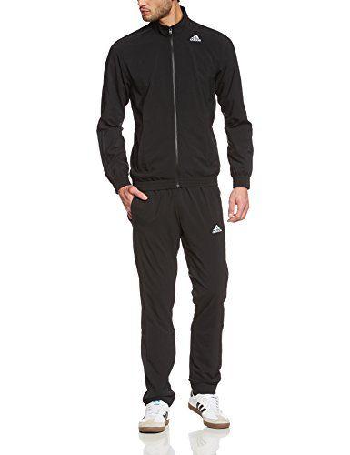 #adidas #Herren #Trainingsanzug #Tracksuit #Essentials #Woven, #Black, 2, #S22466 adidas Herren Trainingsanzug Tracksuit Essentials Woven, Black, 2, S22466, , Innenbeinlänge 81,5 cm (Größe 50), climalite leitet Schweiß von der Haut weg, Jacke: Reißverschlusstaschen vorne, durchgehender Reißverschluss, Stehkragen, Bündchen und Saum elastisch, Hose: In die Seitennaht eingearbeitete Reißverschlusstaschen, elastischer Bund mit Kordelzug, schmal zulaufendes Bein, 100 % Polyester (einfach gewebt)