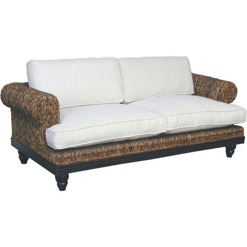 Jeffan tropical abaca sofa tropical furniture and for Tropical living room furniture