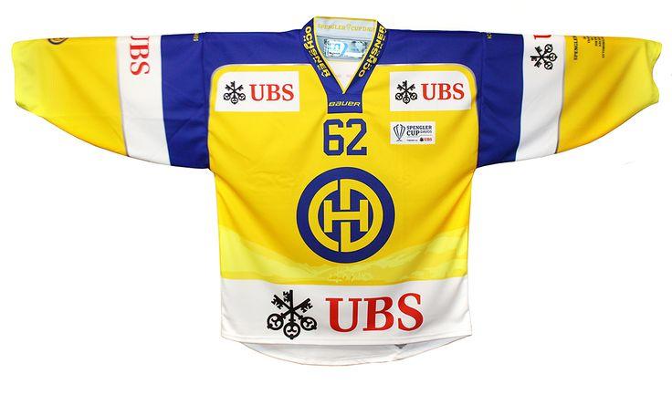 SC Jersey 15 Davos Home SR ohne Name und Nummer - Spengler Cup Fanshop - by Ochsner Hockey