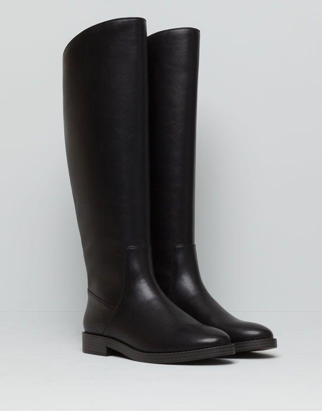 ZIP-UP BOOTS - BLACK