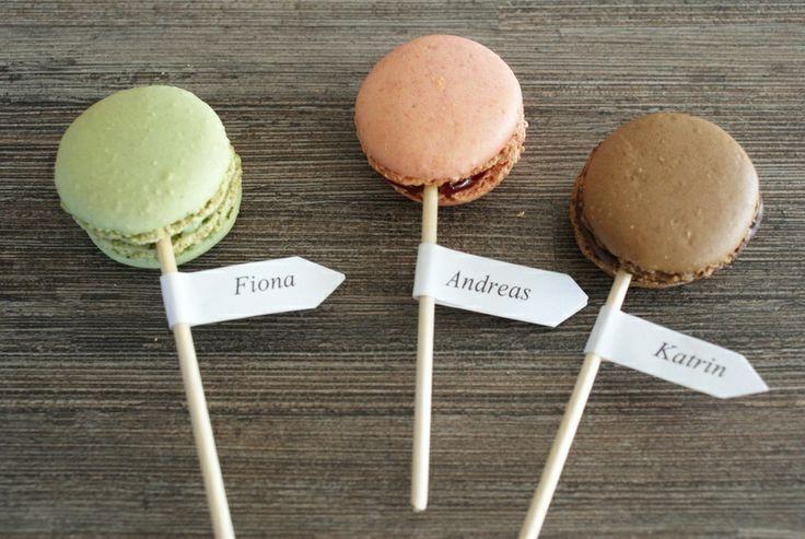 Personalisierte Macarons am Stiel von Suesses-Atelier