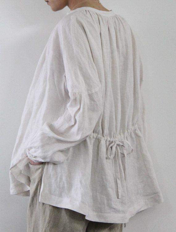 Linen blouse.