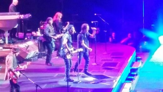 Eddie Vedder and The E Street Band reminding us to give to The West Seattle Food Bank on our way out of Key Arena