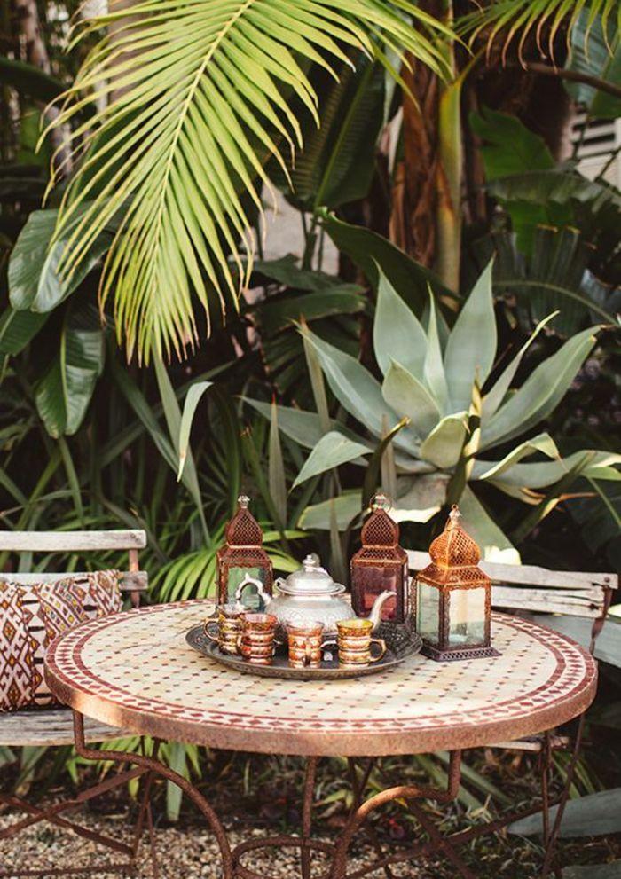 44 Sommerparty Deko Ideen Fur Eine Unvergessliche Feier Marokkanischer Garten Gartentisch Garten