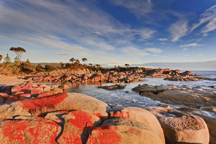 The Bay of Fires, Tasmania.