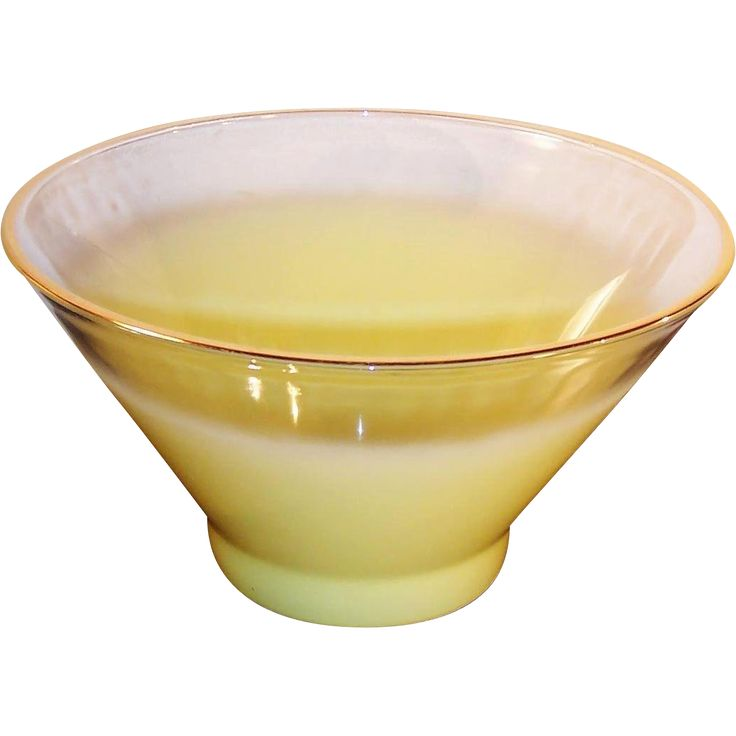 Summer SALE: West Virginia Glass Blendo Frosted Yellow Large Serving from ruthsredemptions on Ruby Lane