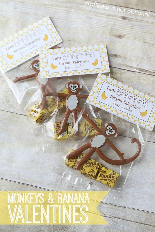 monkeys and banana valentines-free printable!