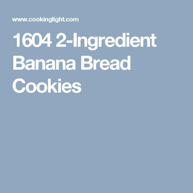 1604 2-Ingredient Banana Bread Cookies