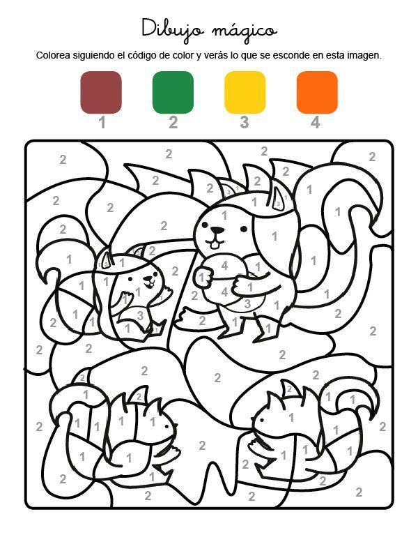 Dibujo Magico De Ardillas Dibujo Para Colorear E Imprimir Dibujos Para Colorear Dibujos De Animales Tiernos Imprimir Sobres